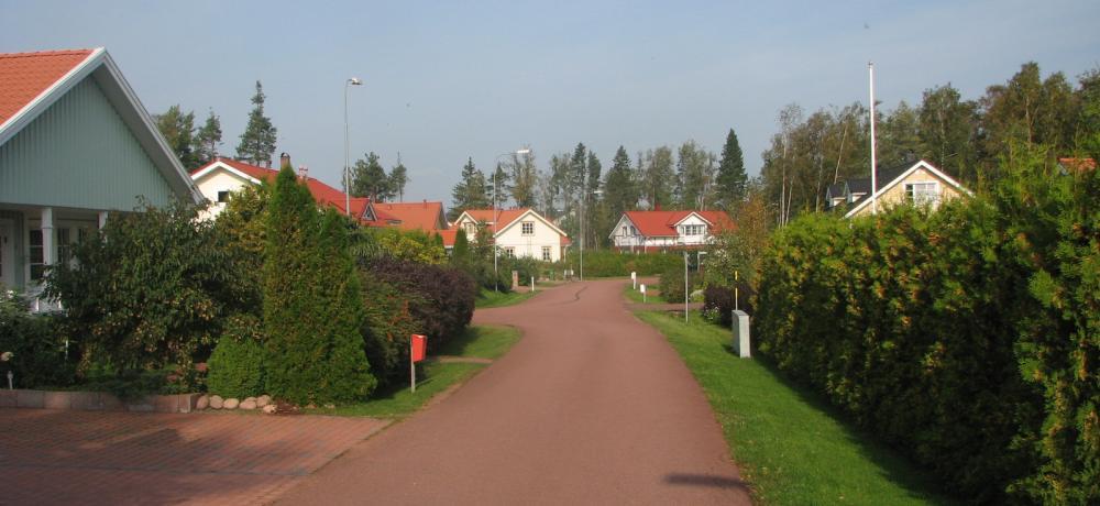 Lugn gata i bostadsområde